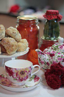 Teacup, Teapot, Food, Preserves, Drink, Cake, Beverage