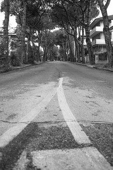 Street, Italy, Black And White, City, Europe, Italian