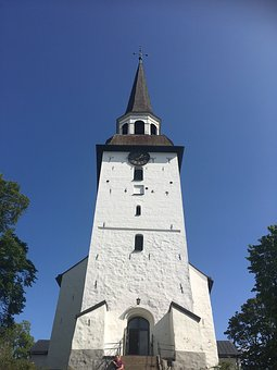 Church, Mariefred, The Bright Summer Sky