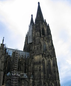 Cologne, Church, Old, Bell Tower, Architecture