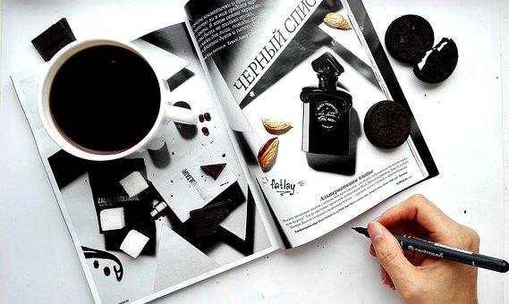 Magazine, Gloss, Coffee, Flatley