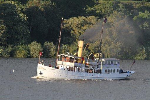 Schaarhörn, Ship, Cruise Day, Hamburg, Elbe, Port