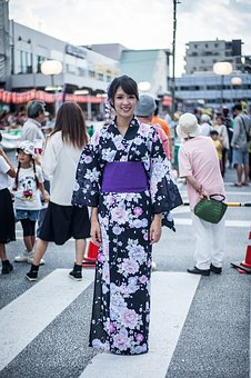 Yukata, Lady, Country Japan, Outdoor, Kimono, Culture