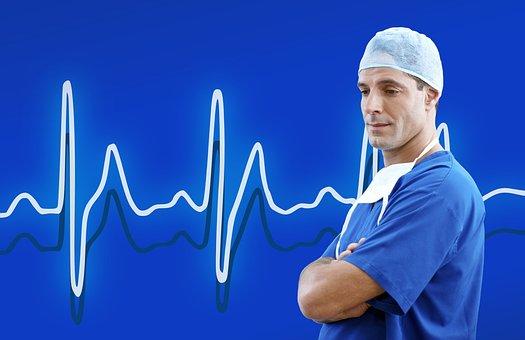 Doctor, Medical, Blue, Heart Rate, Health, Medicine