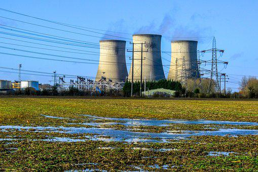 Power Station, Electricity, Cooling Tower, Power
