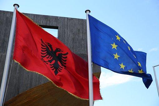 Flags, Albania, Eu, Europe, Symbol