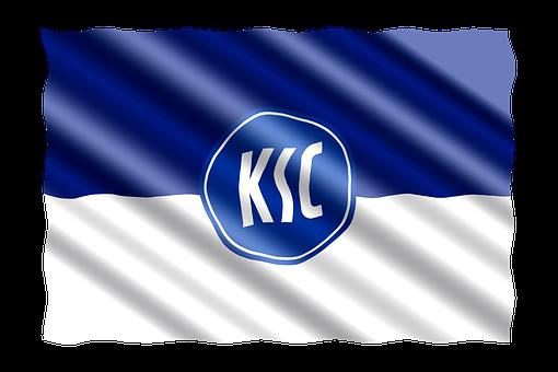 Football, 2 Bundesliga, Flag, Karlsruher Sport Club