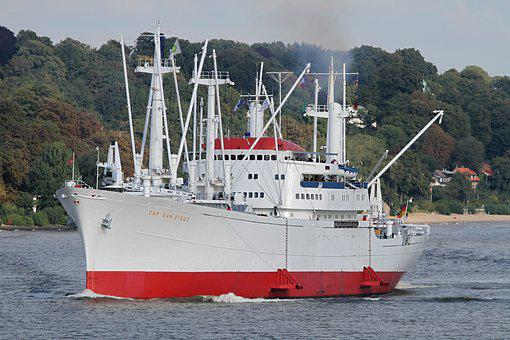 Cap San Diego, Frachtschiff, Port, Hamburg, Traffic