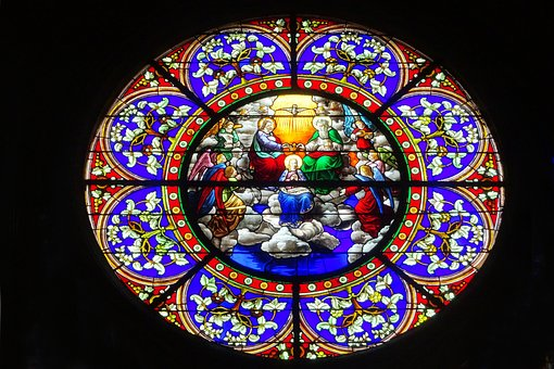 Stained Glass, Church, Heritage, Catholic