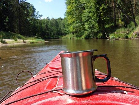 Kayak, Tea, Mug, Holiday, River, Holidays, Relaxation