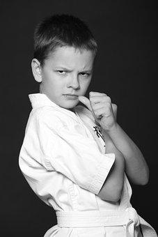 Boy, Teen, Karate, Kimono, Sports, Martial Arts