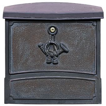 Letter Boxes, Post Horn, Mailbox, Grey, Metal, Letters