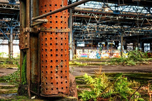 Stainless, Tube, Rusted, Metal, Iron, Lost Places