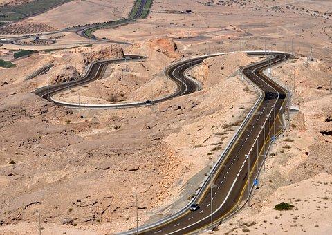 Al Ain, Jebel Hafeet, Mountain Road, Uae, Desert