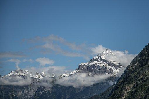 Mountain, Snow, Blue Sky, Nature, Landscape, Winter