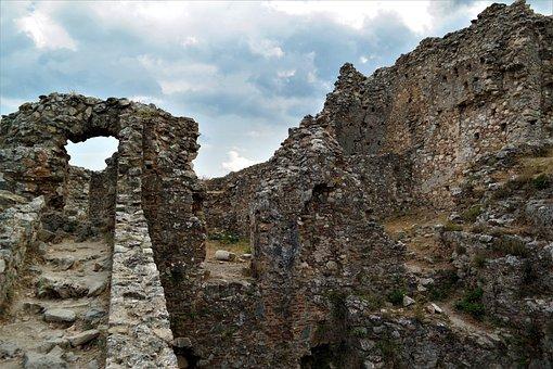 Ruin, Castle, Ruined City, Byzantine, Greece, Mystras