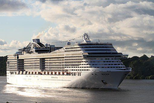 Msc, Preziosa, Cruise Ship, Elbe, Port, Cruise, Holiday