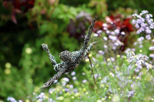 Sculpture, Wire, Garden, Flying