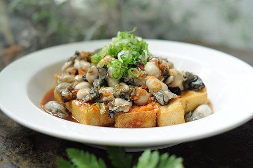 Garlic Fresh Oysters, Seafood, Taiwan Cuisine, Oyster