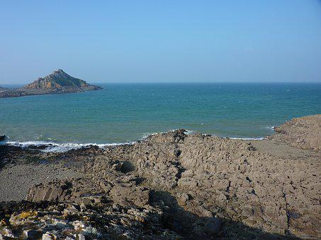 Seascape, Pléneuf Val André, Side Armor, Rocks, Sea