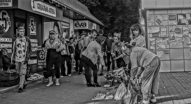 Bazaar, People, Sellers, Buyer, Street