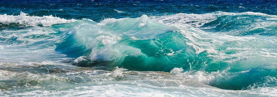 Wave, Transparent, Turquoise, Smashing, Wind, Nature