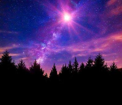 Nebula, Milky Way, Night Sky, Stars, Space, Galaxy, Sky