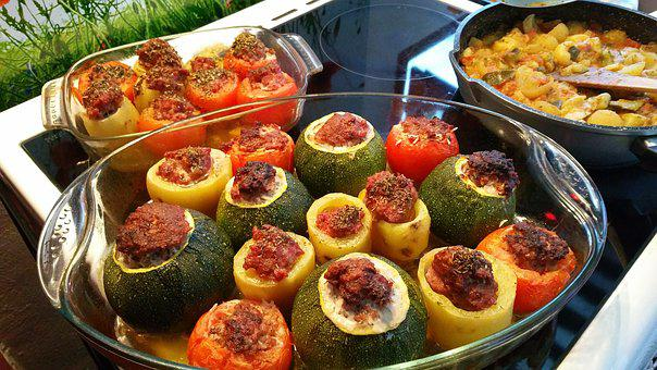 Stuffed Vegetables, Provence, Minced Meat, Zucchini