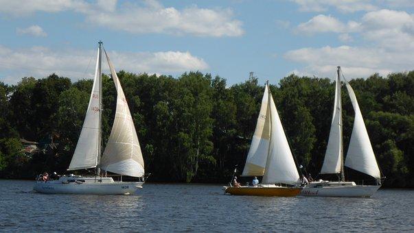 Regatta, Sail, Yacht, Sports, Sky, Water, Boat, Summer