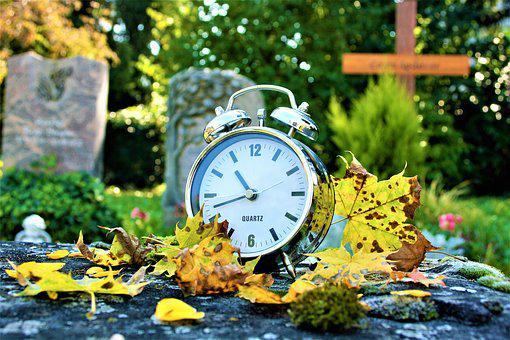 Autumn, Yellow Leaves, Earth, Time, Vanishing, Cemetery