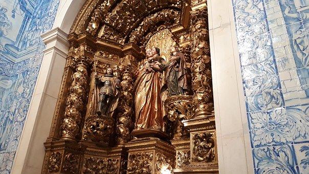 Portugal, Religion, Altar, Gilt, Church