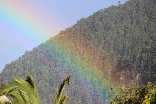 Rainbow, Nature, Bright, Light, Sky, Landscape