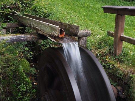 Waterwheel, Flow, Bach, Water Power, Channel, Bucket