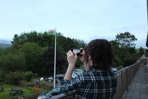 Tourist, Photo, Wales, Camera, Summer, Travel