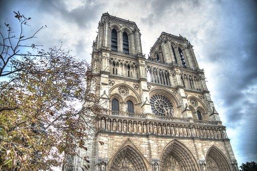 Notre Dame, Paris, France, Dame, Notre, Cathedral
