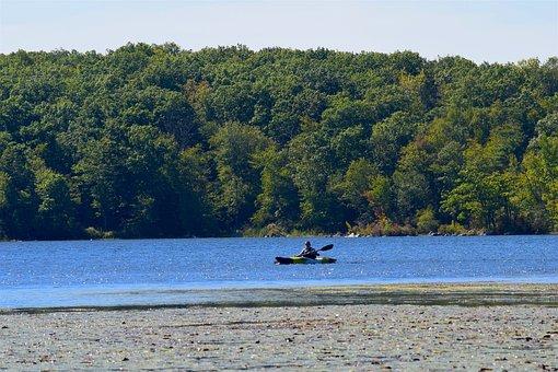 Lake, Kayak, Water, Kayaking, Summer, Vacation, Paddle