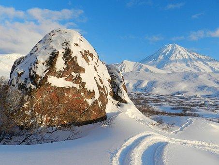 Koryaksky Volcano, Kamchatka, Volcanic Bomb, Stone