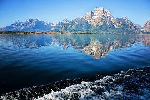 Grand Tetons, Wyoming, Mountains, Lake, Landscape