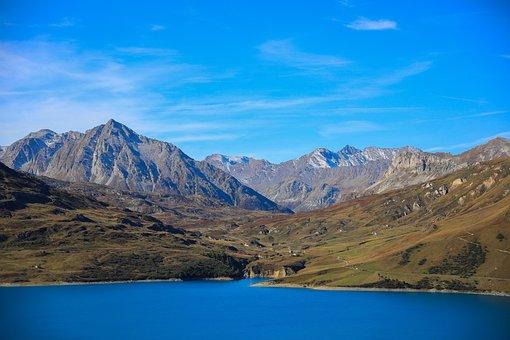 Alpine Scenery, Mountain, Lake, Mountains, Panorama