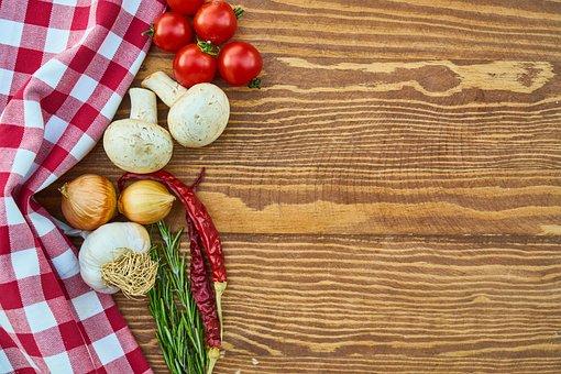 Tomato, Pepper, Onion, Mushroom, Garlic, Mushrooms