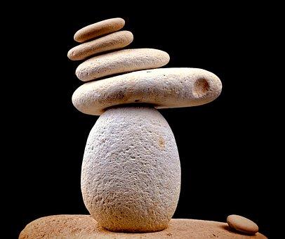 Stone, Zen, White, Spa, Alternative, Close, Pebble