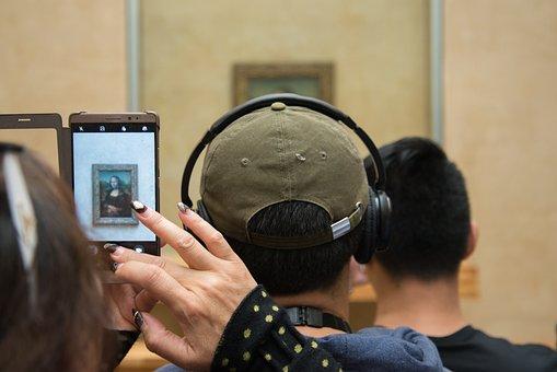 Mona, Lisa, Louvre, Mona Lisa, Portrait, Photo