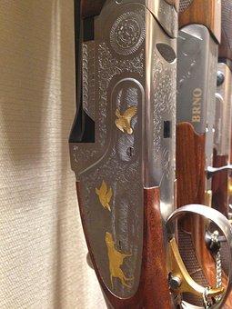Engraving, Gold Inlay, Rifle
