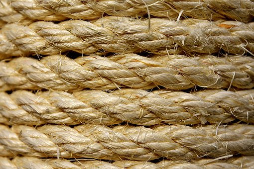 Sisal, Cord, Wrapped, Coiled, Structure, Background