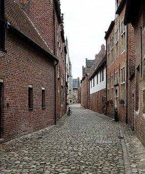 Buildings, Street, Vista, Center, Street Scene, Town