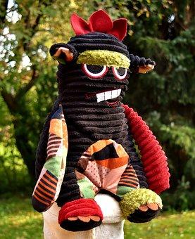 Monster, Soft Toy, Stuffed Animal, Children