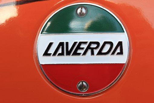 Motor, Motorcycle, Laverda, Italian, Tank, Logo