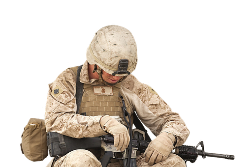 Soldier, Thoughtful, Exhausted, Rifle, Uniform