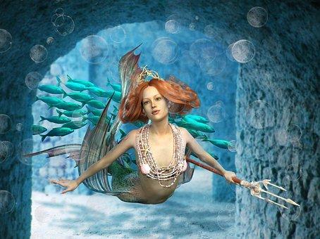 Mermaid, Siren, Water Creature, Mystical, Fantasy
