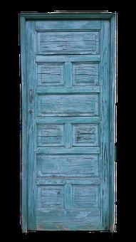 Door, Old, Blue, Old Door, House Entrance, Wood, Input